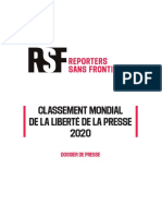 Classement RSF 2020