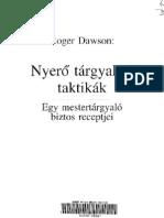 Roger Dawson-Nyerő tárgyalási taktikák
