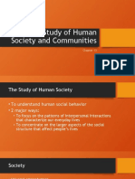 Study of Human Society and Communities
