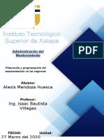 3. Planeación y Programación del Mantenimiento en las Empresas