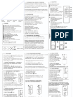 Floureon TS-808 Wireless Thermostat Owner's Manual