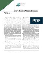 Angela Logomasini - Trash Counterproductive Waste Disposal Policies