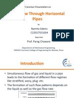 Slug flow through horizontal pipes