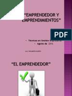 Clase 1 - Emprendedor Emprendimientos