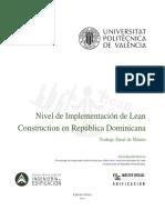 Pérez - Nivel de implantación de Lean Construction en República Dominicana