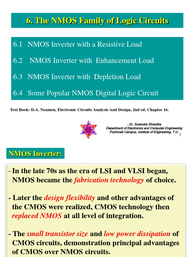 Chapter 6 The Nmos Family Of Logic Circuit Mosfet Cmos Gate Circuitry Gates Electronics Textbook