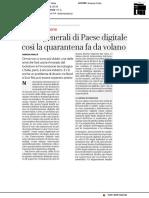 Prove generali di Paese digitale - La Repubblica del 20 aprile 2020
