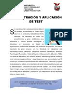 ADMINISTRACIÓN Y APLICACIÓN DE TEST