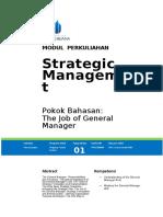MODUL  1 STRATEGIC MANAGEMENT