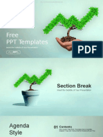 Trees Growing Finance Chart PowerPoint Templates.pptx