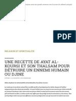 UNE RECETTE DE AYAT AL-KOURSI ET SON THALSAM POUR DÉTRUIRE UN ENNEMI HUMAIN OU DJINE _ RELIGION ET SPIRITUALITÉ.pdf