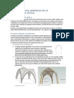 CARACTERÍSTICAS GENERALES DE LA ARQUITECTURA GÓTICA