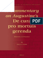 Rose P.J. A Commentary on Augustine's De cura pro mortuis gerenda Rhetoric in Practice