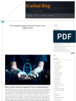 Www Kratikal Com Blog the Ongoing Impact of Data Privacy on an Organization