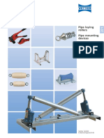 201 Pipe laying rollers pipe mounting tools