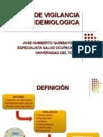 SISTEMAS DE VIGILANCIA EPIDEMIOLOGICA  EN SALUD OCUP.