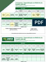 Cronograma Medicina do Trabalho 8 v2