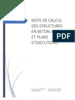 NOTE DE CALCUL DES STRUCTURES EN BETON ARME ET PLANSD