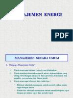 Manajemen Energi