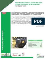 Repères techniques et économiques en élevage de veaux de boucherie 2017-2018