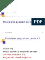 Proiectarea programelor pentru AP (continuare)