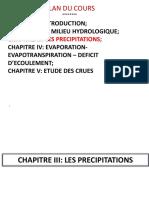 Chap III_Précipitations et Chap IV_EVAPO.pdf