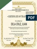 caregiving certificate