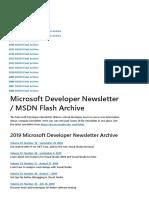 Microsoft Developer Newsletter _ Microsoft Docs