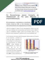 GBS Boletin de Prensa - Agosto 2010 - GBS Lanza Campaña Nacional de Alfabetizacion en TIC AlfabeTICS