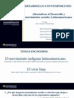 Las implicaciones del desarrollo y alternativas en los territorios