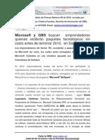 GBS Boletin de Prensa - Diciembre de 2010 - MICROSOFT Y GBS Promueven Emprendedores