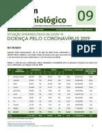 boletim epidemiológico 09 situação epidemiológica da covid-19 doença pelo coronavírus 2019