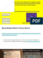 moore sweet at-home learning and class activities