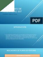 INDICADORES DE AUSENTISMO SST
