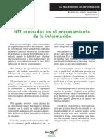 NTI Centradas en el procesamiento de la informacion