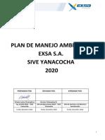 Plan de Manejo ambiental 2020