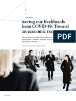 Saving Our Livelihoods From COVID 19 Toward an Economic Recovery