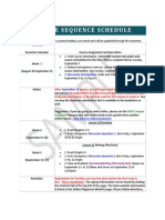 Sequence Schedule