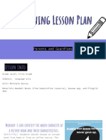 elearning lesson plan parents