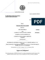 Rihan v. EY Global Ltd and Others Approved Judgment 17 April 2020