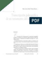 Dialnet-TranscripcionPaleograficaDeUnTestamentoDelSigloXVI-6323926