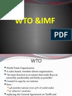 WTO & IMF