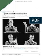 A grande mentira do carisma de Hitler _ Ciência _ EL PAÍS Brasil