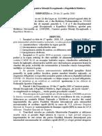 Dispozitia 20 Din 21.04.2020 a Cse a Rm