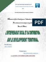 [MFE] Contrib Entreprenariat Social Sur Développ Territorial