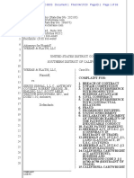 Weems & Plath v. Sirius - Complaint
