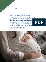 MSP recomendaciones a mujeres embarazadas por el Covid-19
