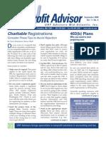 UHY Not-for-Profit Newsletter - September 2008