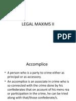 Legal Maxims II