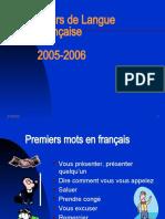 Cours langue francaise